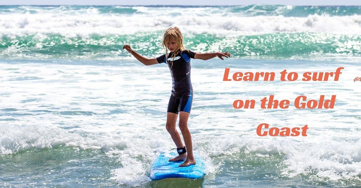 Learn to surf on the gold coast with kids