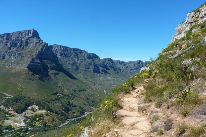 The trail up Lion's Head provides great views of Cape Town from all angles