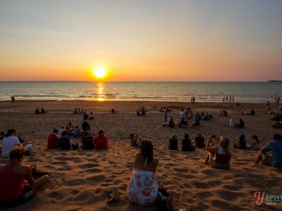 Sunset at Mindel Beach in Darwin, Northern Territory of Australia