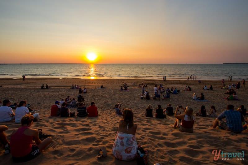 Sunset at Mindel Beach in Darwin, Northern Territory of Australia