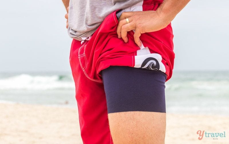 I thought back to my professional sporting days of playing Rugby League in the early 90's when a lot of our off-season training was at the beach, and I used to chafe, BAD! The combination of saltwater, sand and nylon shorts rubbing led to painful chaffing. I remember the burning sensation vividly between the inner thighs and groin area and having to apply vaseline as a lubricant which was really just a band-aid solution.