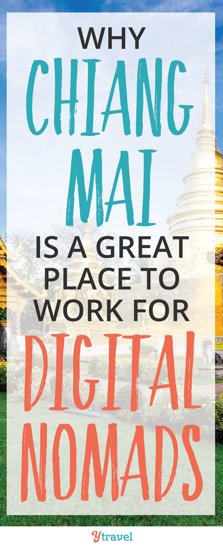 Chiang Mai, Thailand is a great place to work for digital nomads. Welcome to a less bustling place, a slower pace of life, incredible food, and mesmerizing temples.
