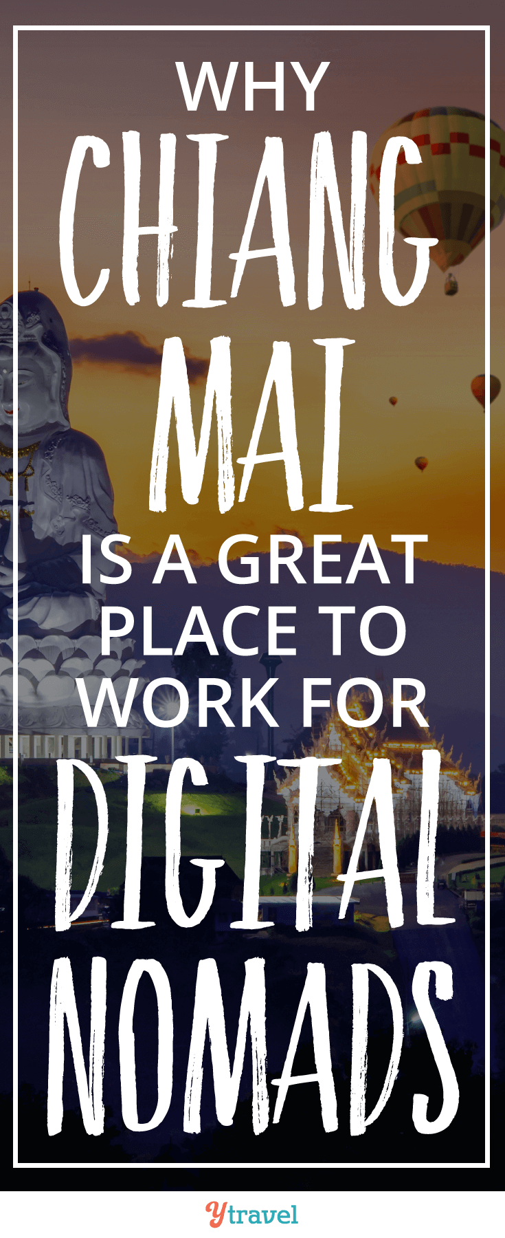 Chaing Mai, Thailand is a great place to work for digital nomads. Welcome to a less bustling place, a slower pace of life, incredible food, and mesmerizing temples.