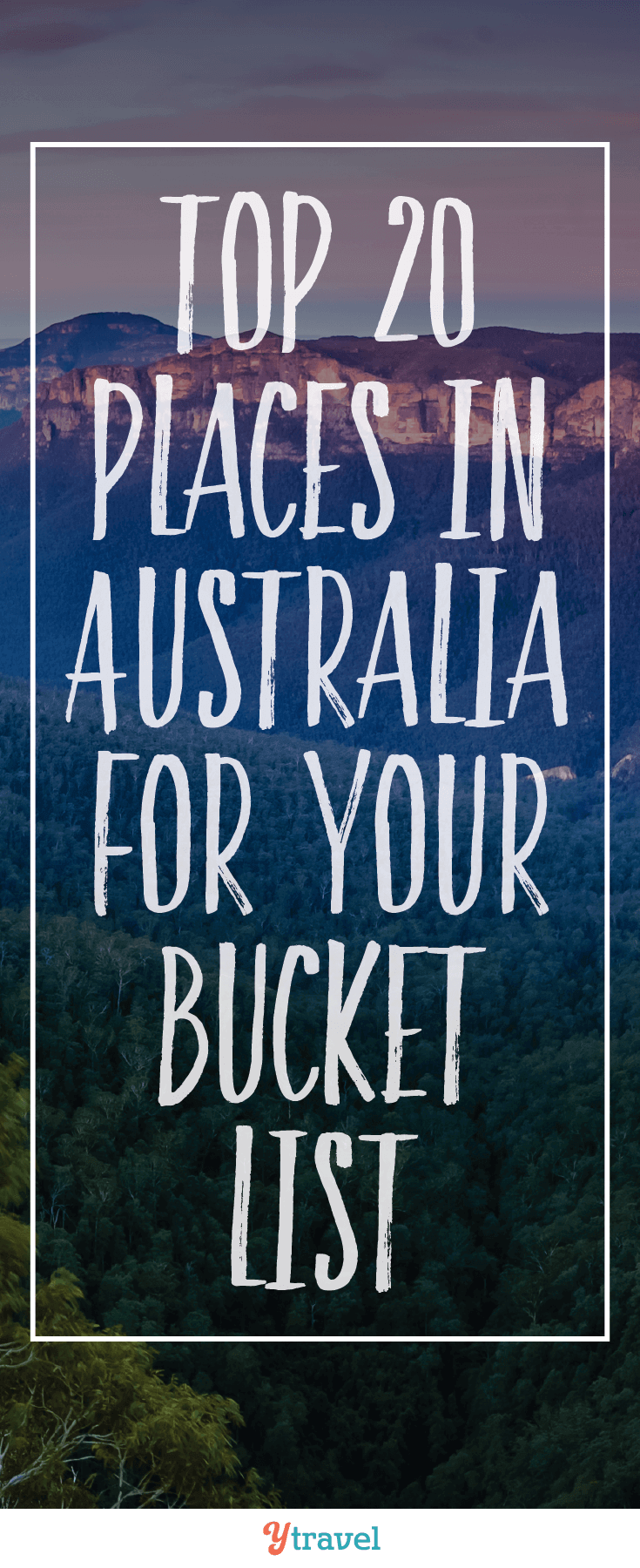 Is Australia on your bucket list? Visit our blog for our top 20 places in Australia you must visit.