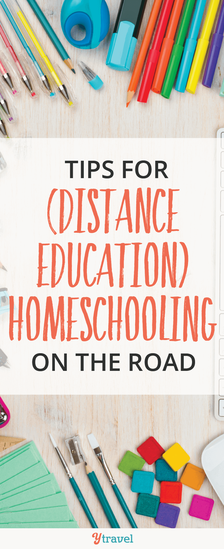Check out these tips for distance education homeschooling on the road!