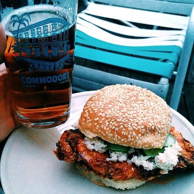 Eat a Spicy chicken sandwiches at The Commodore - One of the iconic places to Eat in NYC