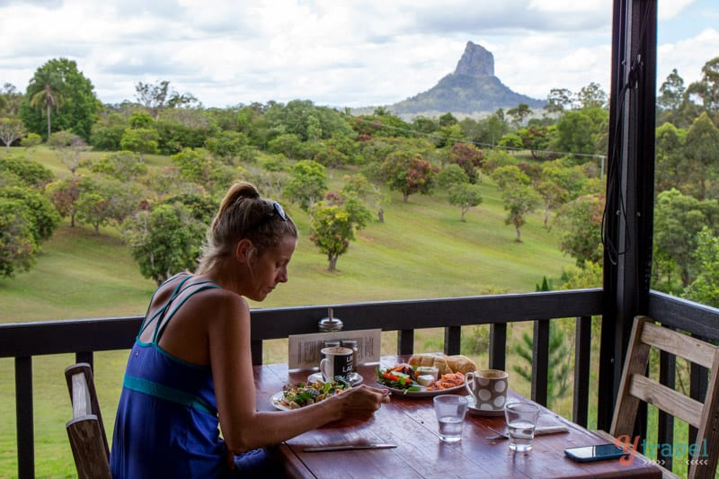 Lookout Cafe in the Glass House Mountains of the Sunshine Coast Hinterland, Queensland, Australia