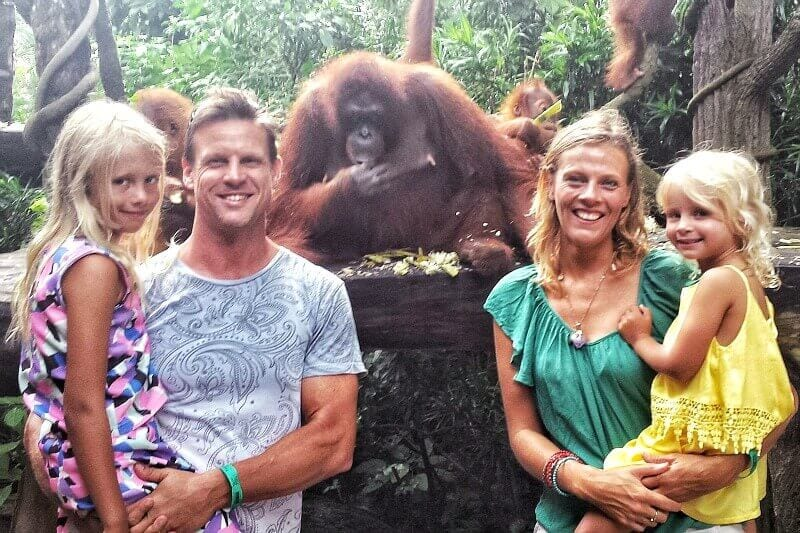 Meeting the Orangutans at Singapore Zoo - S.E.A aquarium in Singapore - one of the best things to do in Singapore with kids!