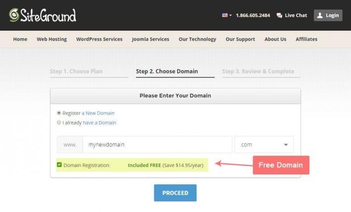 siteground domain