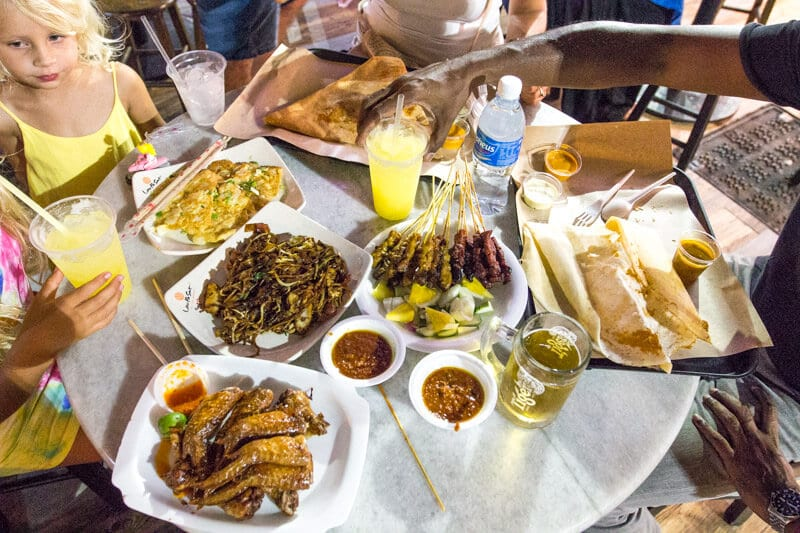 Boon Tat Street (satay under the stars) one of the best things to do in Singapore with kids