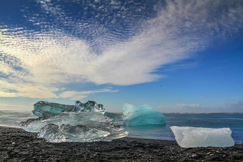 Jokulsalron Beach - stunning place to see on your Iceland road trip