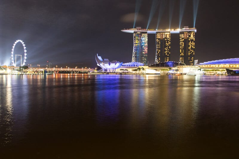 Marina Bay Sands light show - one of the best things to do in Singapore with kids