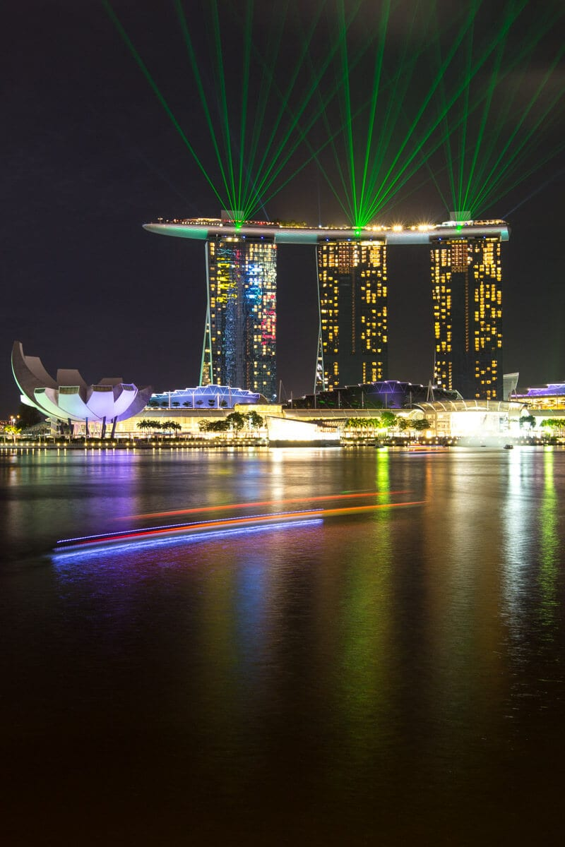 Marina Bay Sands light show - one of the best things to do in Singapore