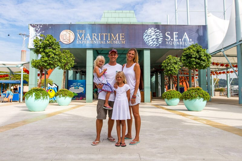 S.E.A Aquarium on Sentosa Island - One of the best things to do in Singapore with kids