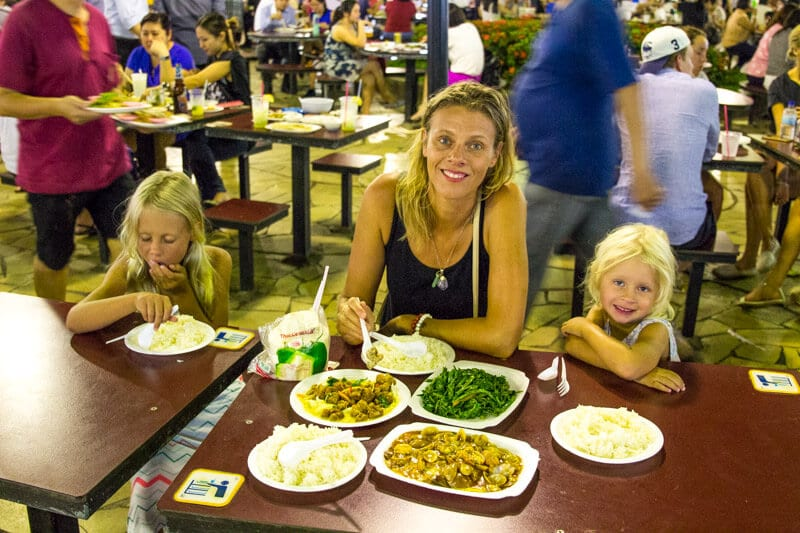 Newton Hawker Market - one of the best things to do in Singapore with kids