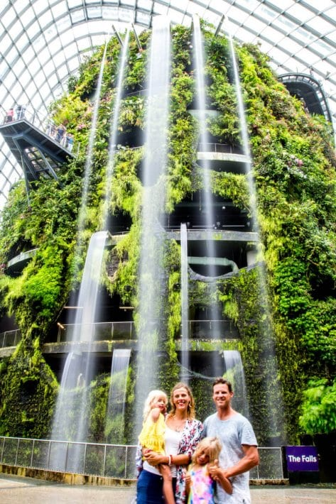 Cloud Forest at Gardens by the Bay - one of the best things to do in Singapore with kids!