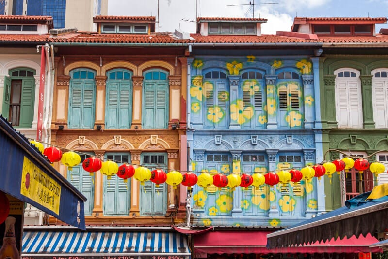 Chinatown in Singapore - one of the best things to do in Singapore with kids
