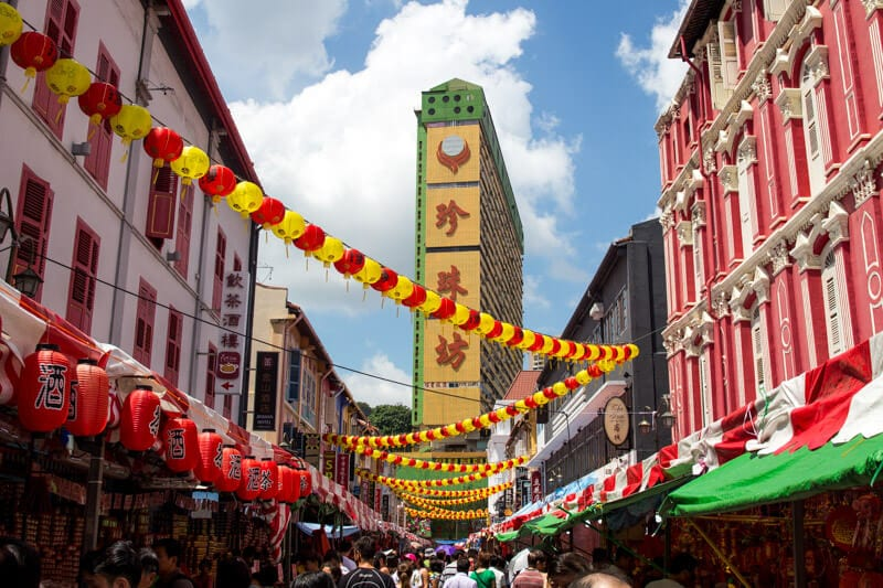 Chinatown, Singapore - one of the best things to do in Singapore with kids