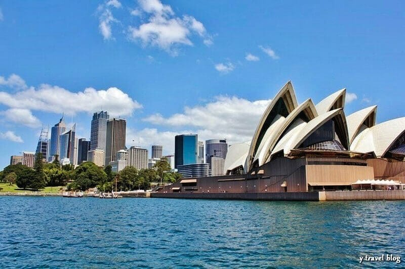 View of Sydney Opera House from the Manly Ferry