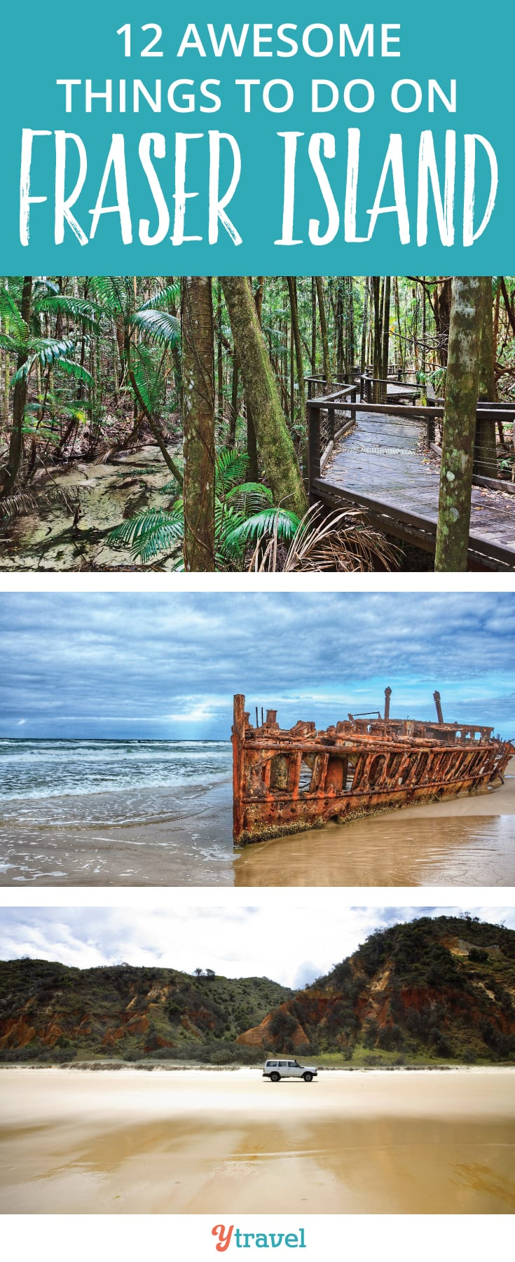 Things to do on Fraser Island: Fraser Island is the largest sand island in the world and one of the most beautiful to explore in Queensland. Check out the post for some epic adventures to have on Fraser Island including beach driving, whale watching and dingo watching.