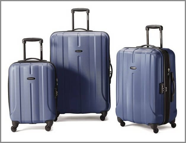 One of the best suitcases for travel - Samsonite Fiero 3 Piece Hardside Nested Spinner Set