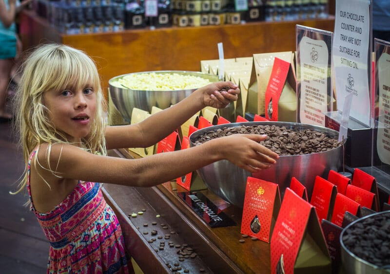 Margaret River chocolate company family fun