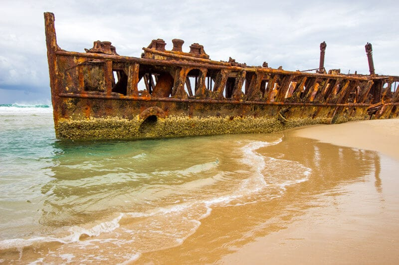Moheno Shipwreck - things to do on Fraser Island in Australia