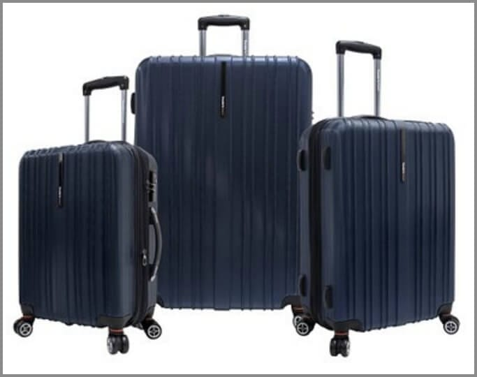One of the best suitcases for travel - Traveler's Choice Tasmania Three Piece Luggage Set