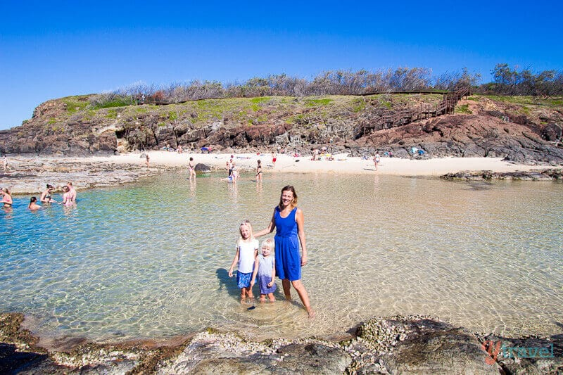 Champagne Pools - one of the best things to do on Fraser Island