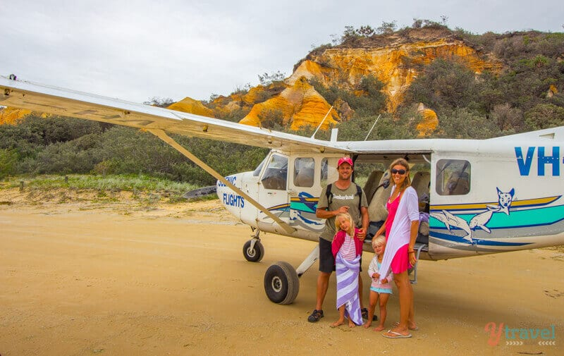 Take a joyflight over Fraser Island in Queensland, Australia