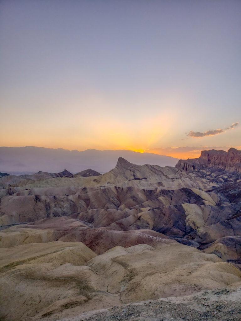 zabriski point sunset death valley