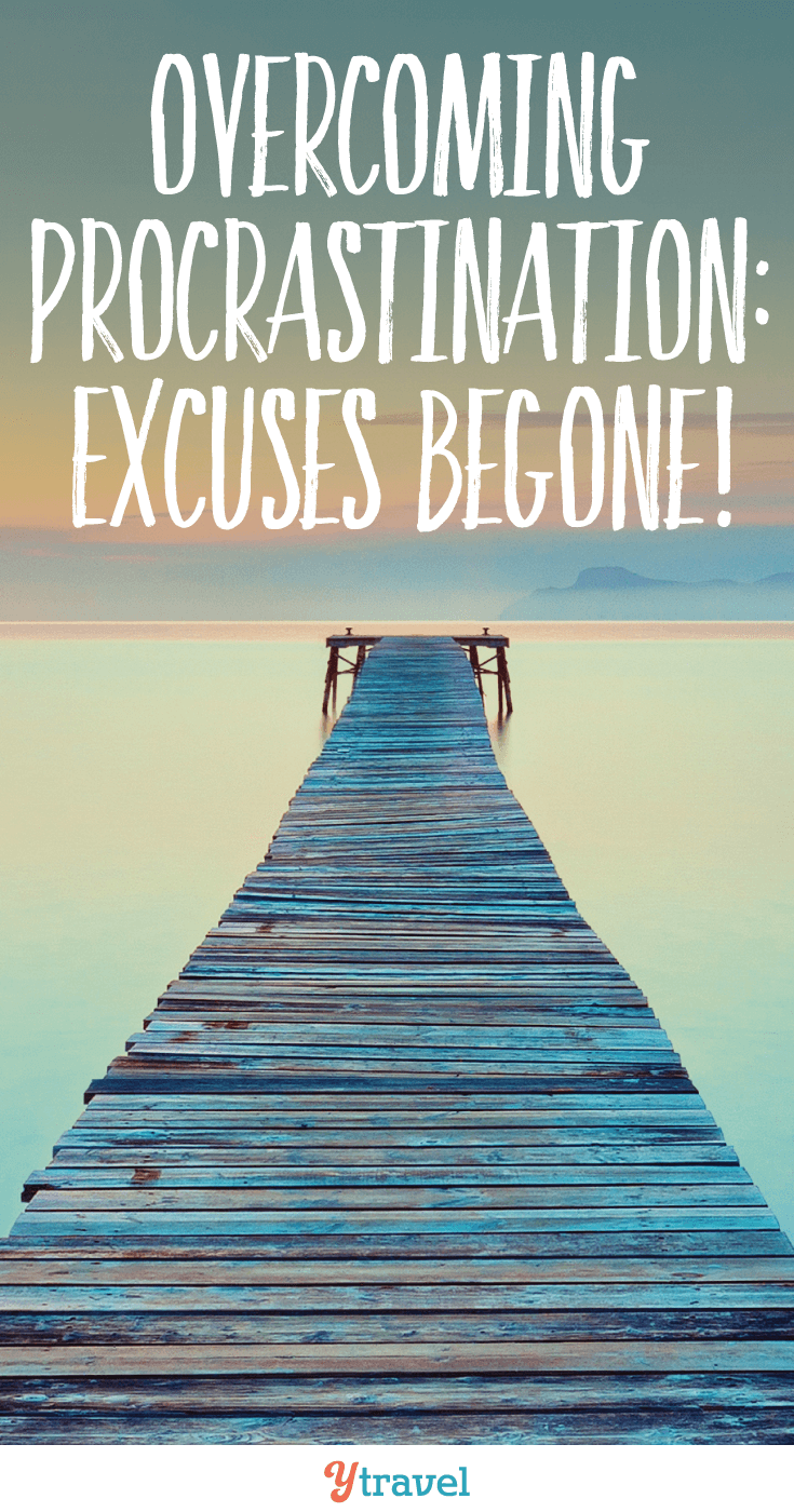 Overcoming procrastination: excuses begone! Procrastination. Otherwise known as it's not the right time yet. Or, I'll get to it later. Or, once I've figured out XYZ then we'll do it.