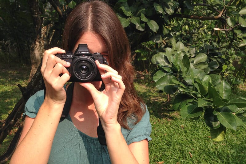 A mirrorless camera helps to pack carry-on only