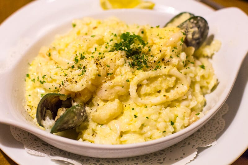 Seafood Risotto at the Casa Mia Italian Restaurant in Ipswich, Queensland