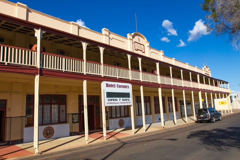 Hotel Corones in Charleville, Outback Queensland
