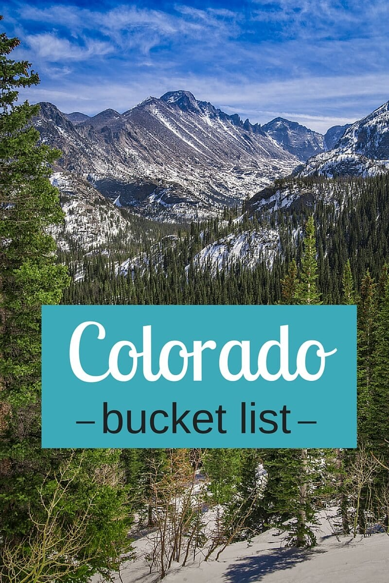 Our things to do in colorado bucket list for Cabins in denver colorado for vacation