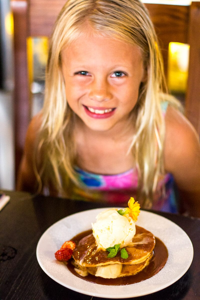 Kids pancakes at Fourth Child cafe in Ipswich, Queensland