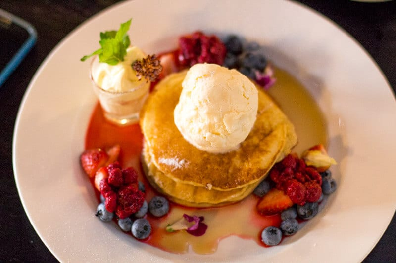 Lemon and ricotta pancakes at Fourth Child Cafe in Ipwsich, Queensland