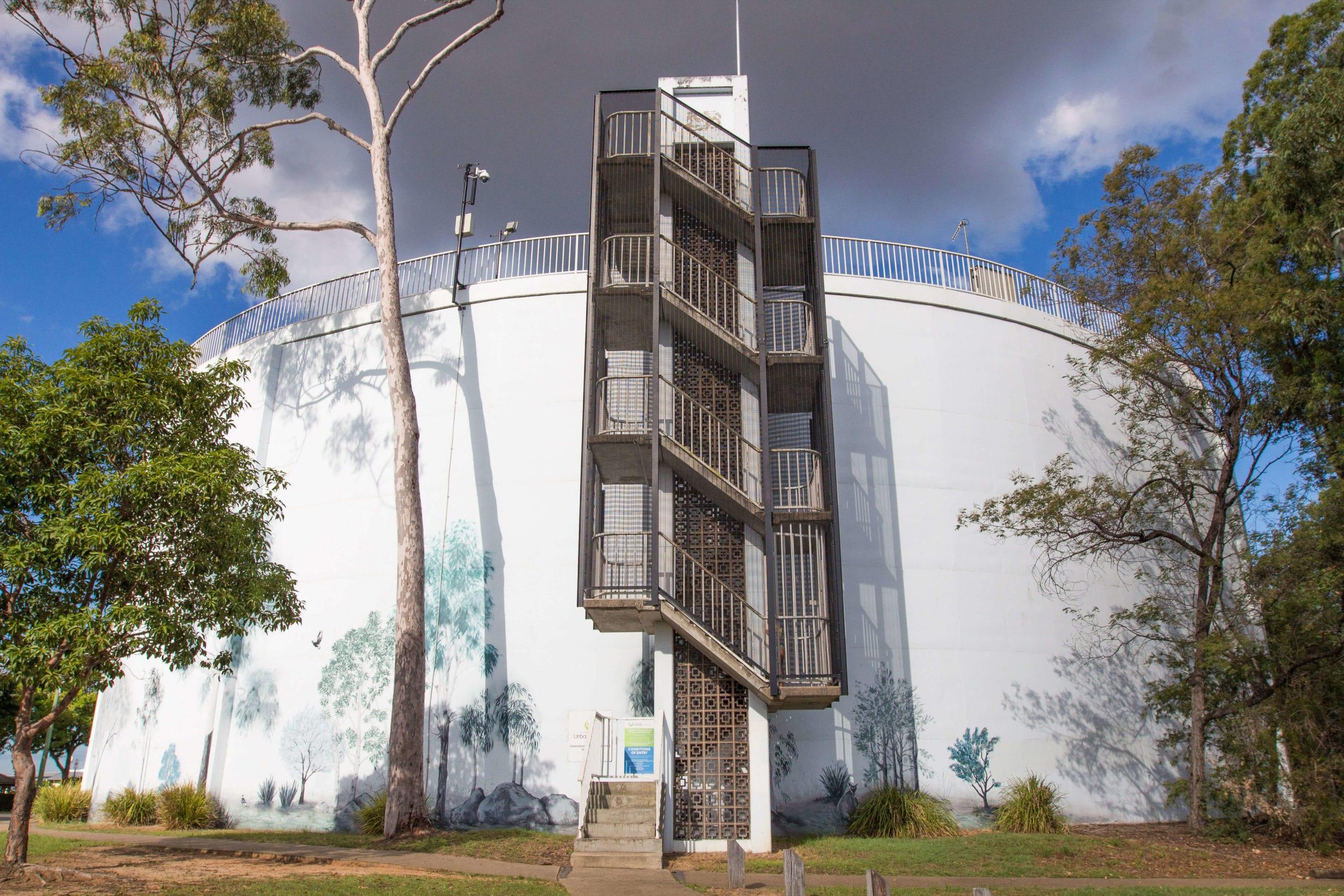 Denmark Hill water tower - Ipswich, Queensland,