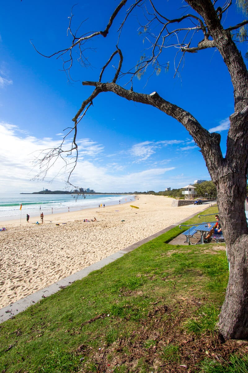 Mooloolaba Beach on the Sunshine Coast of Queensland - Australia