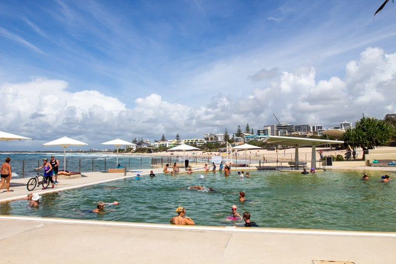 Kings Beach tidal pool in Caloundra on the Sunshine Coast