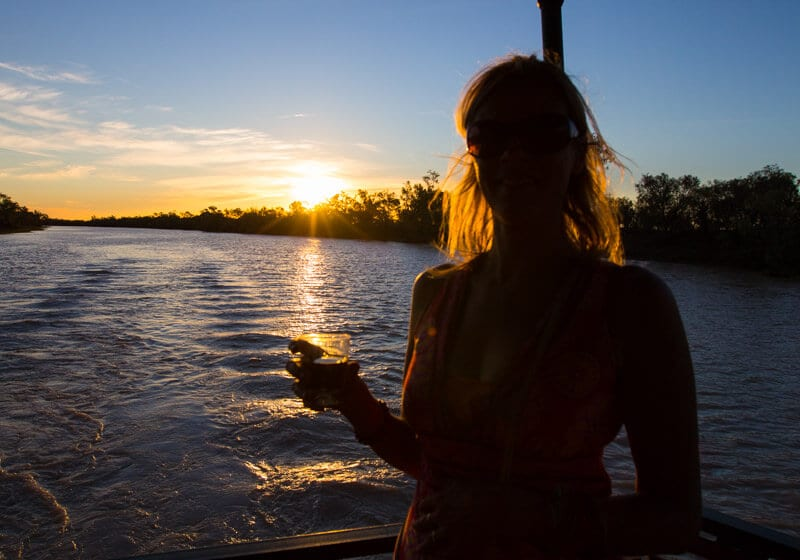Sunset cruise on the Thomson River with Kinnon & Co - Longreach, Outback Queensland