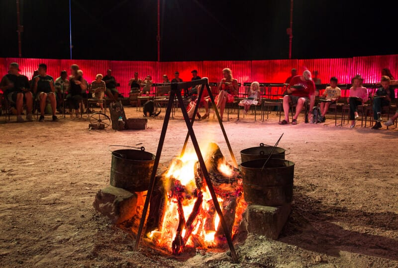 Campfire stories in Longreach, Outback Queensland