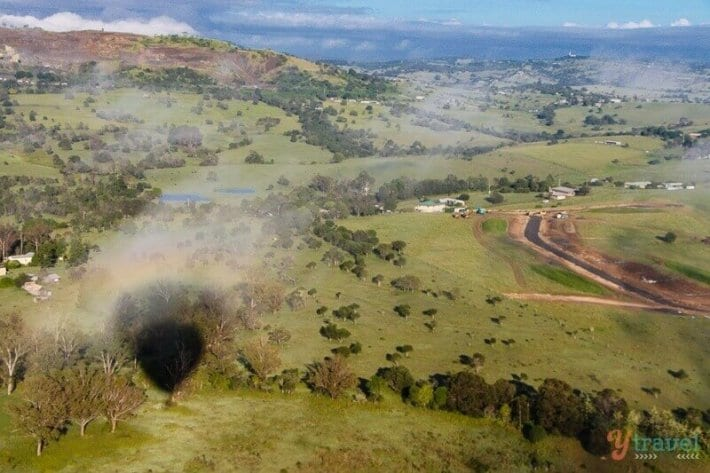 Hot Air Ballooning over Fassifern Valley with Floating Images