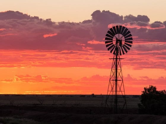 Sunset at Winton in Outback Queensland