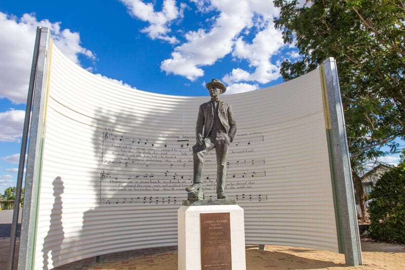 Banjo Paterson, the poet behind Waltzing Matilda, in Winton, Outback Queensland
