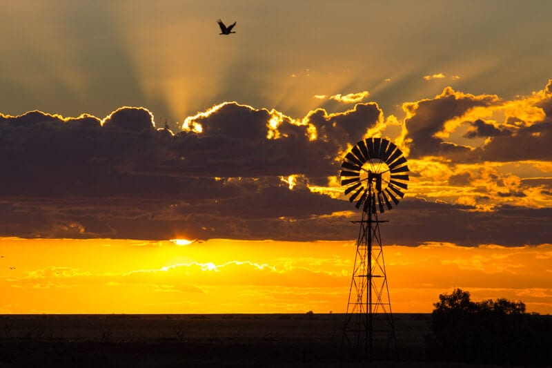 Sunset at Winton, Outback Queensland