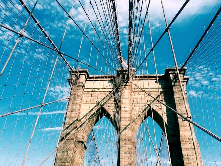 The Brooklyn Bridge offers one of the most iconic views of NYC
