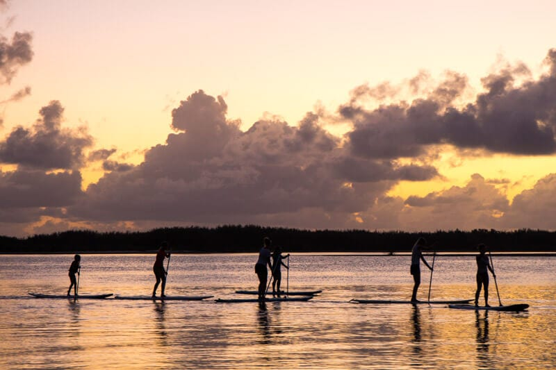 Sunrise stand up paddle board at Golden Beach in Caloundra on the Sunshine Coast