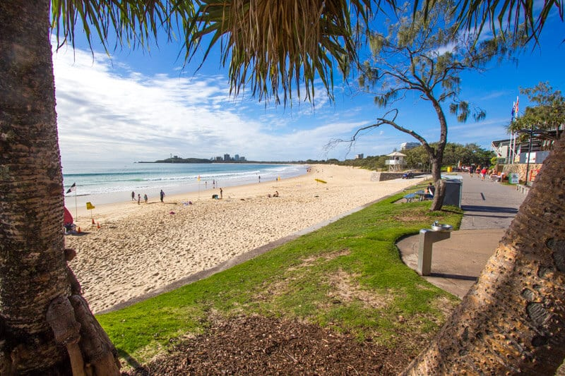 Mooloolaba Beach on the Sunshine Coast of Queensland